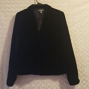 Apt 9 black velvet blazer with front pockets